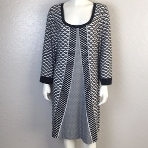Calvin Klein Dress Black White Size XL